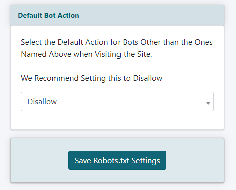 Edit the Robots.txt file