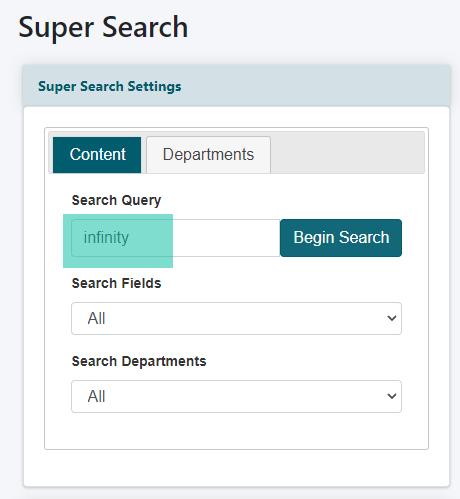 Using Super Search