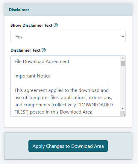Configure the Download Library