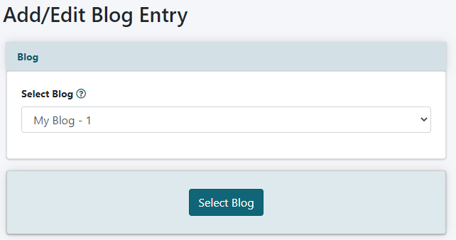 How to Add a New Entry to your Blog