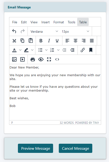 How to Send an Email from the Control Panel