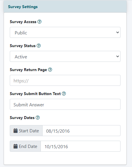 How to Add a Survey