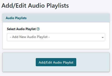How to Create an Audio Playlist