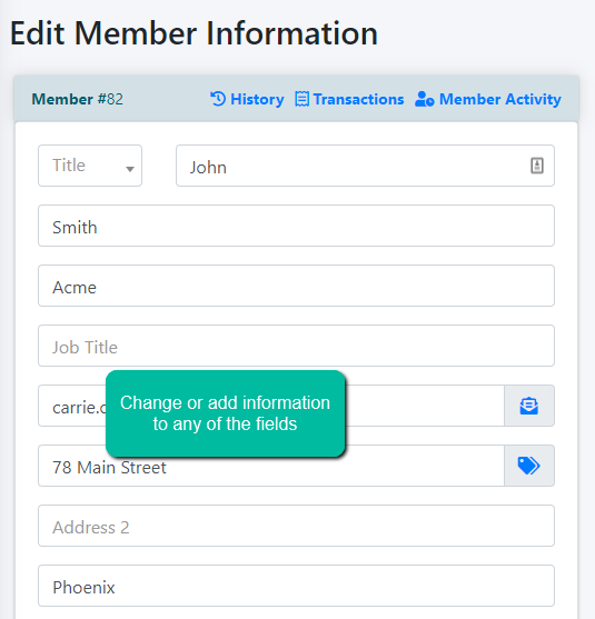How to Edit a Member's Details