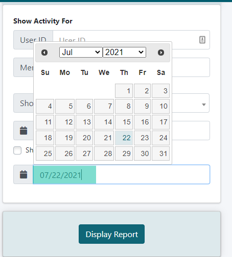 Member Activity Report