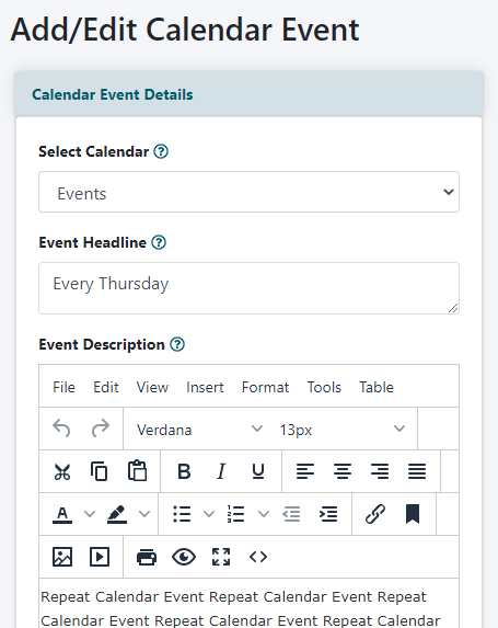 How to Add an Event to the Calendar