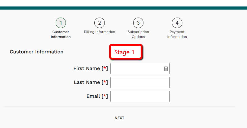 How to Create a Staged Subscription Form