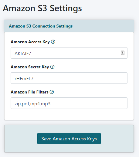 Offer Downloads that are Served on Amazon S3