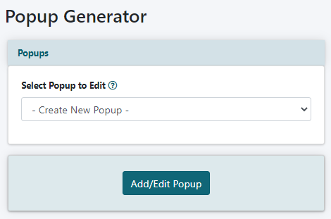 How to Add a Pop Up Using the Generator