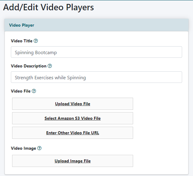 Embed a Video Using the Built in Player