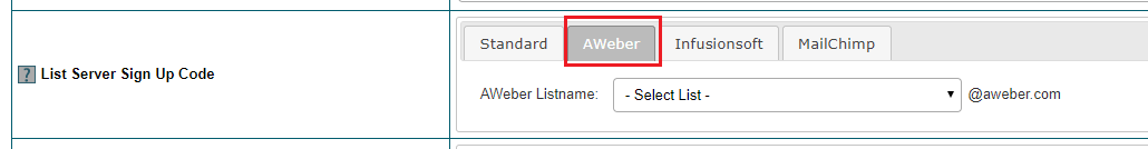 Connect AWeber to Member Plans