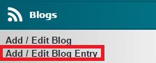 Add Edit Blog Entry