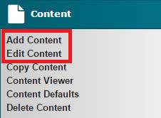 Add Edit Content
