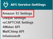 Amazon S3 Settings