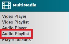 Audio Playlist