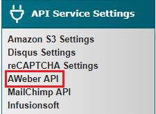 Aweber API