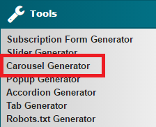 Carousel Generator