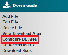 Configure DL Area