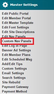 Custom Nav Panels