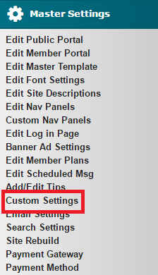 Custom Settings