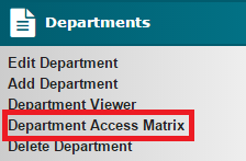 Department Access Matrix