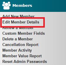 Edit Member Details
