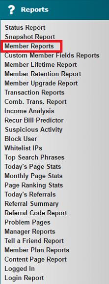 Member Reports