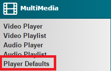 Player Defaults