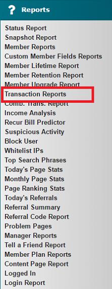 Transaction Reports